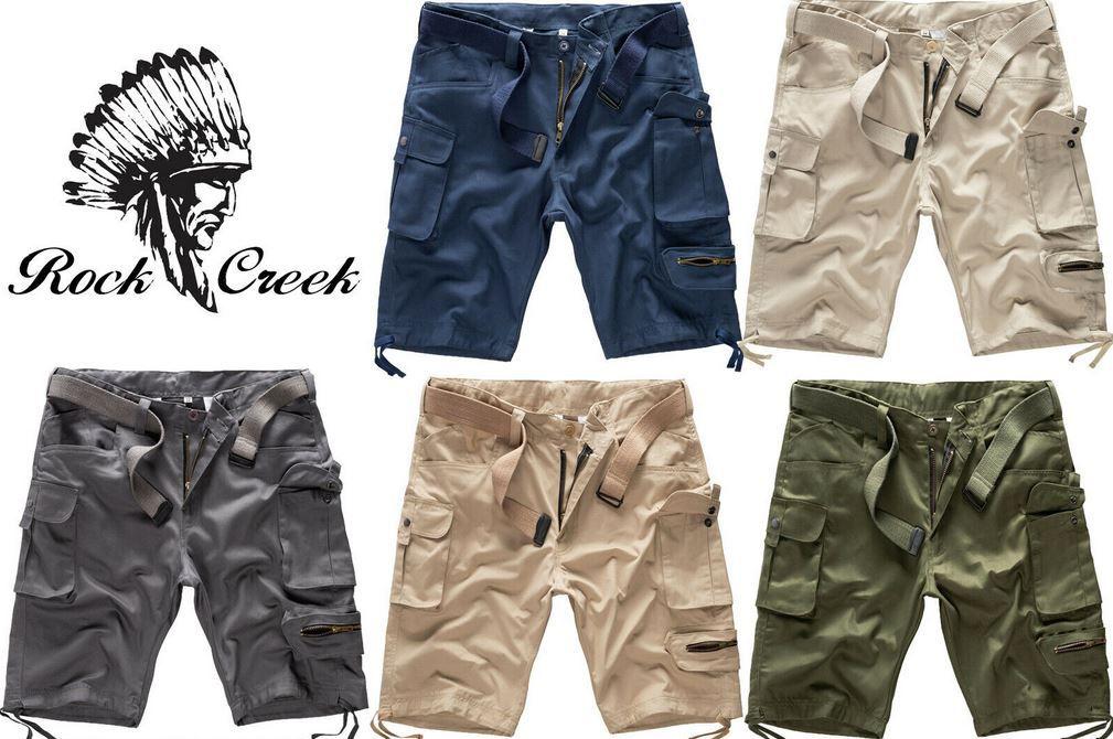 Rock Creek H 171 Herren Cargoshorts mit Gürtel für 19,90€ (statt 30€)