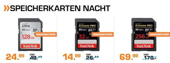 Saturn Speicher & Tablet Late Night: z.B. SANDISK iXpand 64 GB Flash Laufwerk für 29€ (statt 35€)