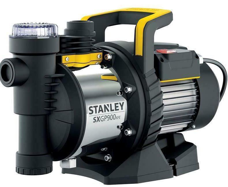 Stanley SXGP900 Edelstahl Gartenpumpe 900 W 3.600 l/h 4,2 bar mit Filter für 69,90€ (statt 97€)
