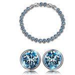 """Susan Y Armband """"Ozean"""" mit blauen Swarovski-Steinen + Ohrringe für 12,99€ (statt 50€)"""