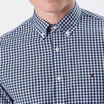 Tommy Hilfiger Hemd in Blau-Weiss für 53€ (statt 80€)