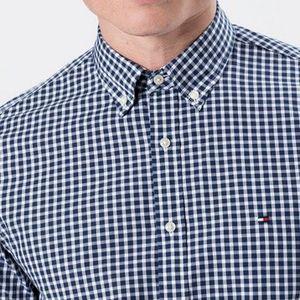Tommy Hilfiger Hemd in Blau Weiss für 53€ (statt 80€)