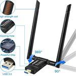 sumgott Dualband WiFi USB Adapter (max. 1200Mbit/s) für 10,99€ – Prime
