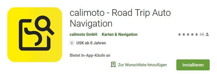 Android: calimoto   Road Trip Auto Navigation kostenlos (statt 40€)