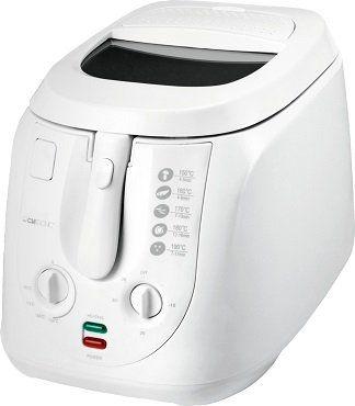 CLATRONIC FR 3548 Fritteuse mit 2000 Watt in Weiß für 36€ (statt 95€)
