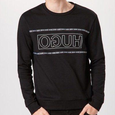 HUGO Herren Sweatshirt Dicago in Schwarz für 67,43€ (statt 81€)