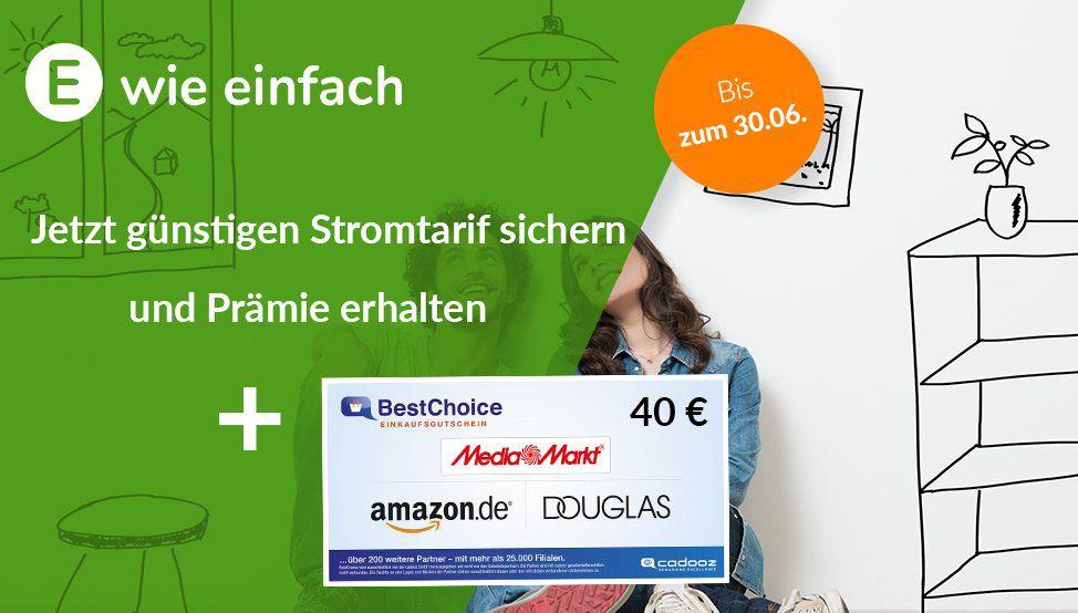e wie einfach MeinÖko Stromtarife inkl. 40€ Gutscheinprämie   nur 12 Monate Laufzeit
