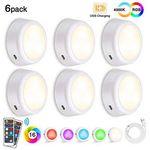 6x LED-Schrankleuchten oder Nachtlichter mit 5 Dimmstufen & Fernbedienung für 15,83€ (statt 22€)