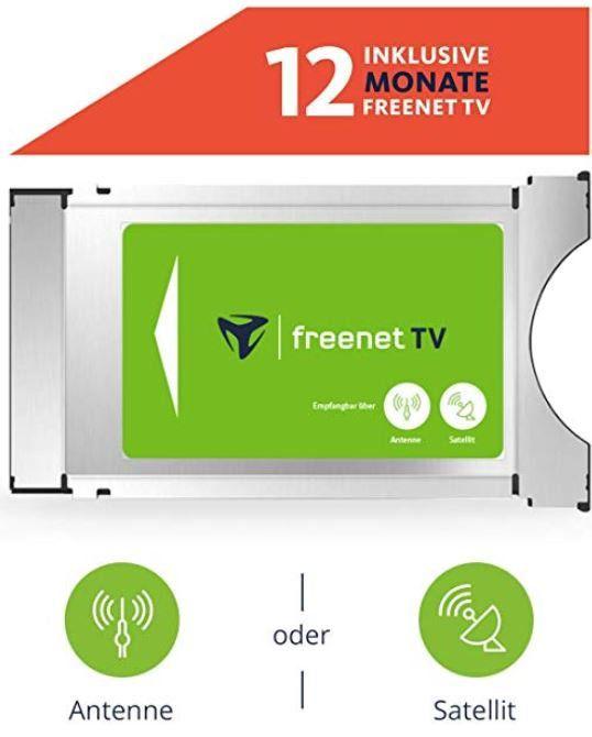 Doppelpack: freenet TV CI+ TV Modul DVB T2 HD und DVB S Sat inkl. 12 Monate TV für 119,82€ (statt 154€)