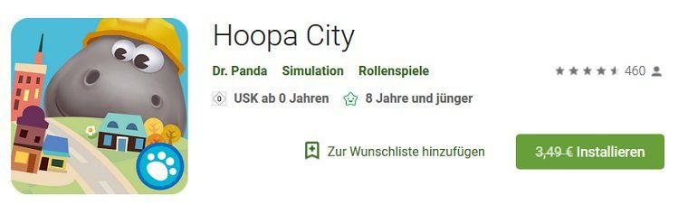 Android/iOS: Dr. Panda Hoopa City kostenlos (statt 3,49€)