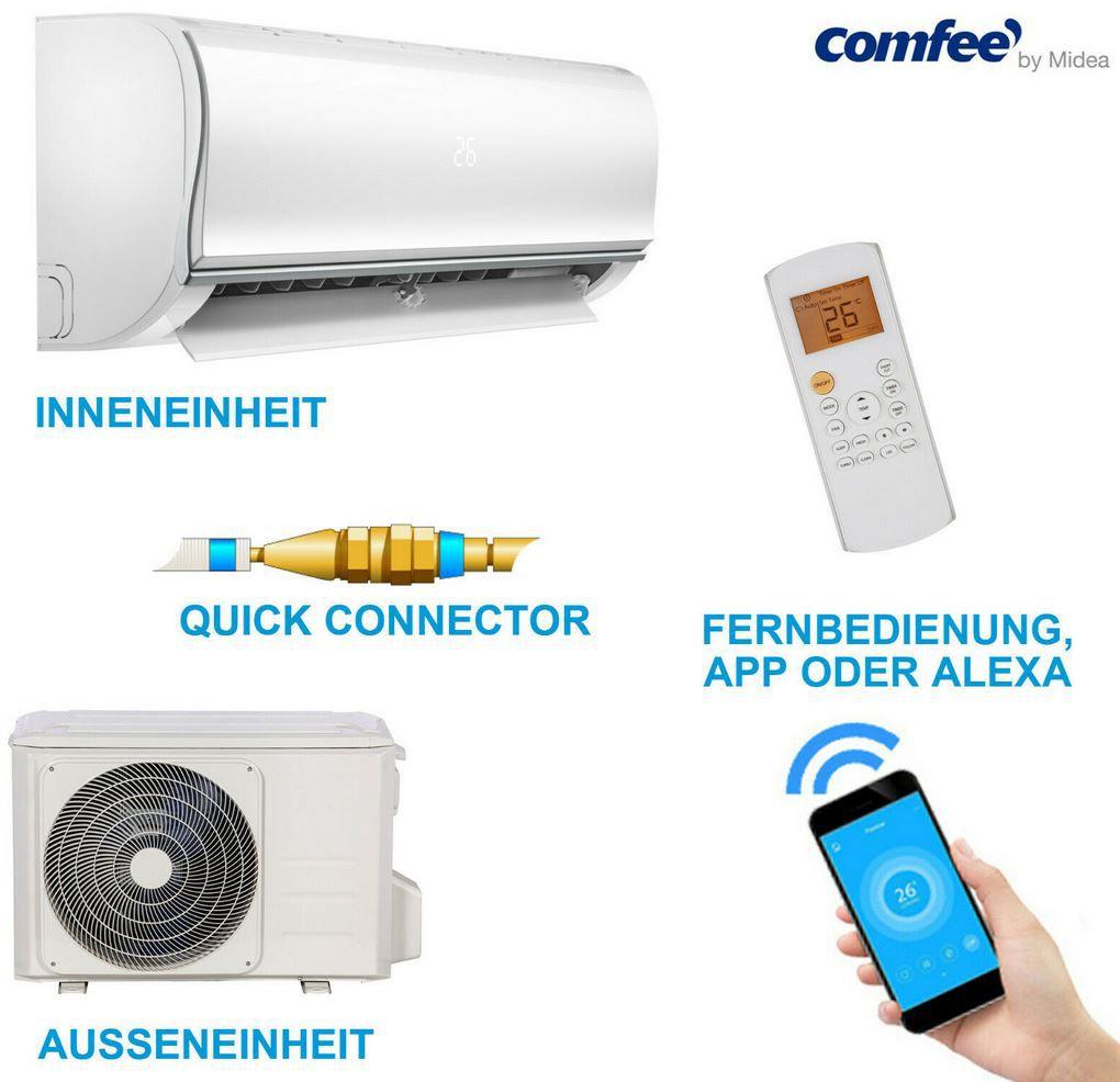 comfee MSAF5 09HRDN8 QE Split Klimaanlage mit Quickconnector für 549€ (statt 626€)