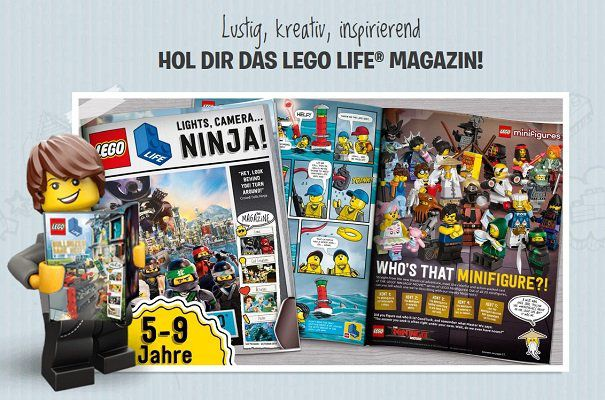 4 mal im Jahr Lego Life Magazin gratis nach Hause