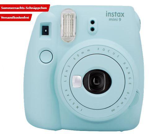 FUJIFILM Instax Mini 9 Sparset Sofortbildkamera in blau für 59€ (statt 82€)