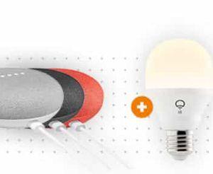 Google Home Mini + LIFX Mini White E27 Stimmungslicht für 49€ (statt 63€)