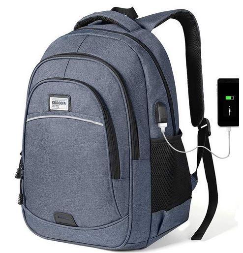 KUSOOFA Business Rucksack max. 15,6 Zoll Notebook mit USB Ladeanschluss ab 19,59€ (statt 28€)