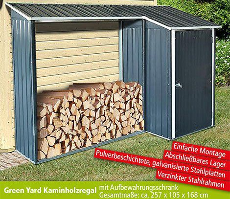 Green Yard Holzunterstand mit Aufbewahrungsschrank für 104,50€ (statt 329€)
