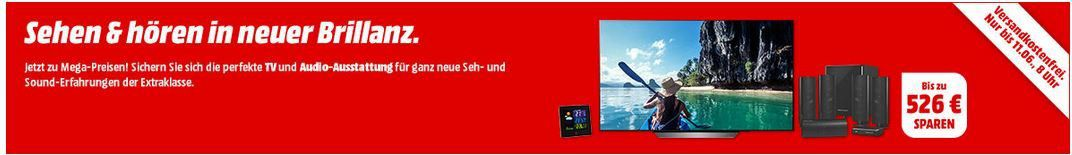 Media Markt Feiertags TV & Sound Angebote: z.B. SONY KD 65XF7596   65Zoll SMART TV für 799€ (statt 999€)