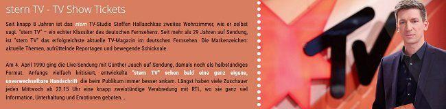 Freikarten für SternTV   Dschungel Spezial in Hürth für den 22.01.2020