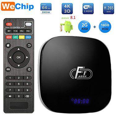 A95X F1 TV Box mit 2GB / 16GB und Android 8.1 für 23,63€   aus DE