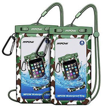 Doppelpack: IPX8 wasserdichte Handyhülle für bis zu 6 Zoll für 4,69€   Prime