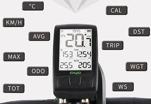 GIYO M4   IPX5 Fahrradcomputer mit 2,5 LCD & vielen Funktionen für 33,99€   aus DE