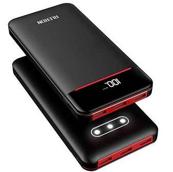 RLERON 25.000mAh Powerbank mit 3 USB Ports, LCD & Taschenlampe für 23,09€ (statt 33€)