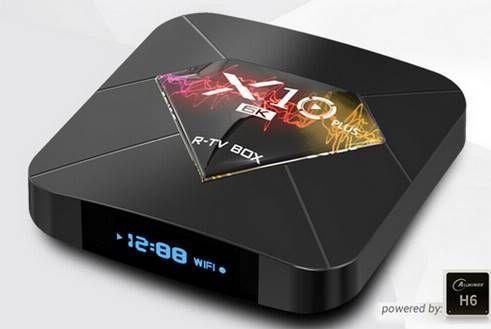 R TV BOX X10 PLUS 6K TV Box mit Android 9 & 4GB / 64GB für 34,99€   aus DE