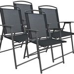 VCM-Gartenstuhl-Set mit 4 Metallstühle für 54,99€ (statt 75€)