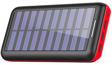 KEDRON 24000mAh Solar Powerbank mit 3x USB, 1x Micro USB & 1x Lightning für 22,39€ (statt 32€)