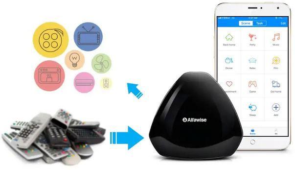 Alfawise KS1 WiFi IR Control Hub mit App Anbindung & Sprachsteuerung für 8,57€