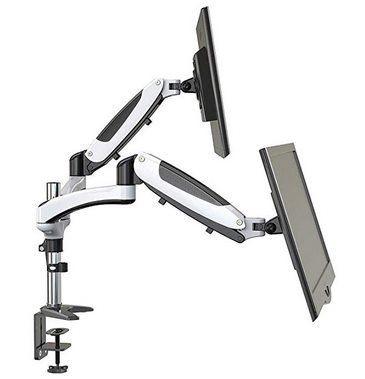 HUANUO HNDSK1   schwenk  & neigbare Monitorhalterung für 2 Monitore für 39,99€ (statt 60€)