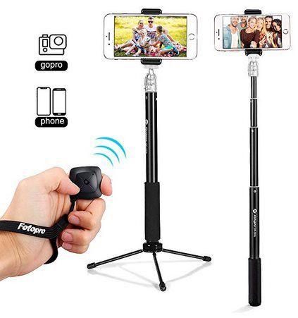 Fotopro 4G MS   2in1 SelfieStick mit Fernauslöser für 9,85€   Prime