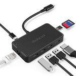 dodocool 8in1 USB C Hub mit HDMI, Gigabit LAN, USB 3.0 Ports, Kartenleser etc für 31,99€ (statt 44€)