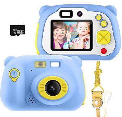 Pacnellent 12MP Kinderkamera mit Farbdisplay, WLAN & 16GB SD Karte für 29,94€ (statt 50€)