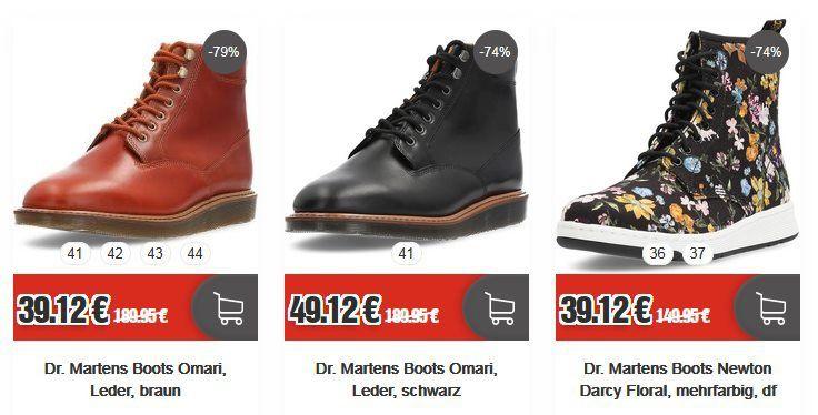 Dr. Martens Sale bei Top12   z.B. Dr. Martens Boots Omari für 44,24€ (statt 86€)