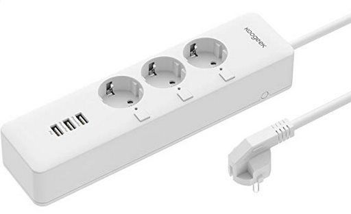 Koogeek 3 fach Steckdosenleiste mit 3 USB Ports inkl. Alexa  &  Google Home Support für 38,99€ (statt 60€)