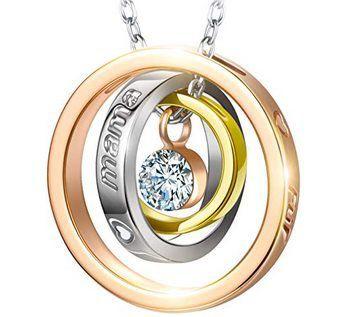 Halskette Mama Ich Liebe Dich mit Swarovski Kristall für 9,99€ (statt 25€)