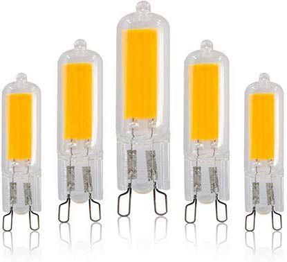 5er Pack: G9 LED Lampen in versch. Ausführungen ab 8,39€