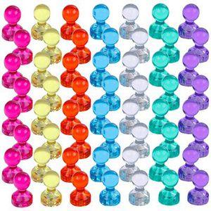 56 farbige Magnete für Kühlschrank, Tafel oder Whiteboard für 5,49€ – Prime