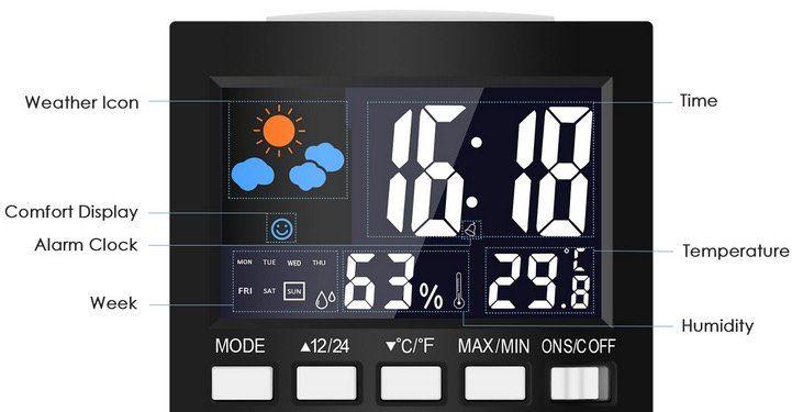Digitale Wetterstation Loskii DC 001 mit Uhr für 2,84€