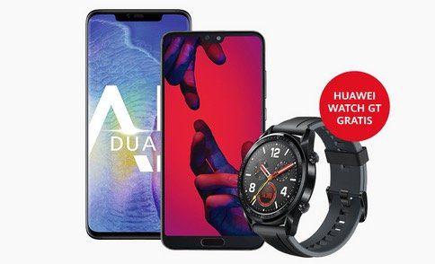 Huawei Aktionen: Viele Tarife mit Smartphones und dazu Bluetooth Box oder Huawei Watch GT gratis