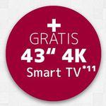 LG G8S mit 128GB für 99€ + gratis 43″ LG UHD TV (Wert 394€) + Vodafone Flat mit 10GB LTE für 36,99€ mtl. (junge Leute 15GB)