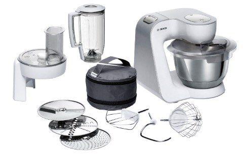 Bosch MUM58W20 Küchenmaschine mit Durchlaufschnitzler und Mixer Aufsatz für 199,99€ (statt 235€)