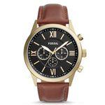 Vorbei! Fossil Flynn Herren Armbanduhr mit braunem Lederarmband für 46,92€ (statt 109€)