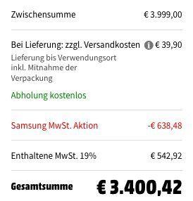 Samsung 75 QLED 8K UltraHD Fernseher nur 3.400,42€ (statt 4.399€) + geschenkt: Galaxy S10 Plus (Wert 660€)