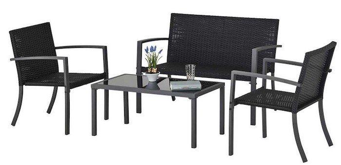 4 teilige Balkon /Terrassen Loungegarnitur Badalona für 77,70€ (statt 100€)