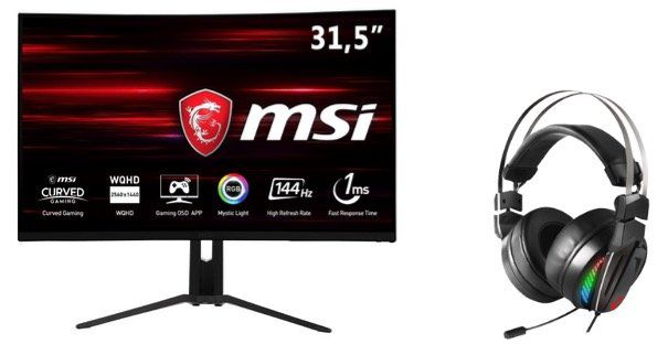 Ausverkauft: Gaming WQHD Monitor MSI Optix MAG321CQR + MSI Headset für 399€ (statt 579€)