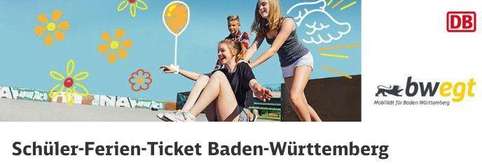 Schüler Ferien Ticket der Bahn (Baden Württemberg) für 26,90€   nur für Schüler bis 22 Jahren