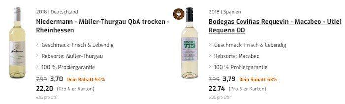 Weinvorteil: SSV mit Rabatten über 60% auf viele Weine + 15% oder 20% Extra Rabatt