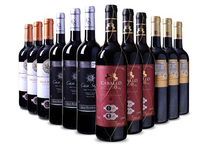 Spanisches Probierpaket mit 12x medaillenprämiertem Rotwein für 49,99€ (statt 69€)